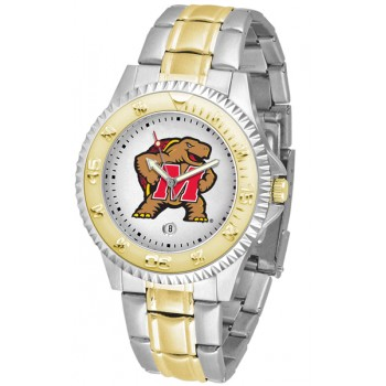 University Of Maryland Terrapins Mens Watch - Competitor Two-Tone
