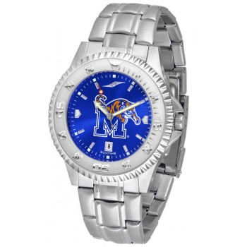 University Of Memphis Tigers Mens Watch - Competitor Anochrome Steel Band