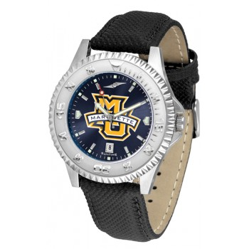 Marquette University Golden Eagles Mens Watch - Competitor Anochrome Poly/Leather Band