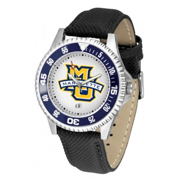 Marquette University Golden Eagles Mens Watch - Competitor Poly/Leather Band