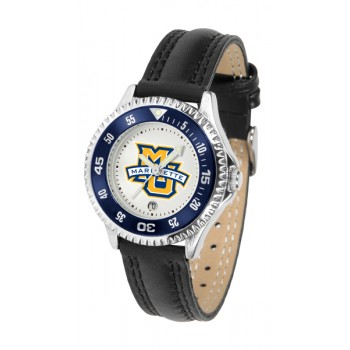 Marquette University Golden Eagles Ladies Watch - Competitor Poly/Leather Band