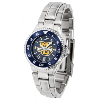 Marquette University Golden Eagles Ladies Watch - Competitor Anochrome - Colored Bezel - Steel Band