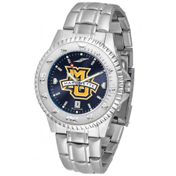 Marquette University Golden Eagles Mens Watch - Competitor Anochrome Steel Band