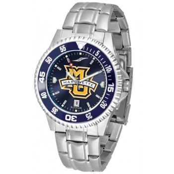 Marquette University Golden Eagles Mens Watch - Competitor Anochrome - Colored Bezel - Steel Band