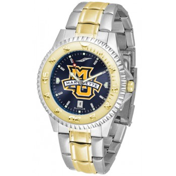 Marquette University Golden Eagles Mens Watch - Competitor Anochrome Two-Tone