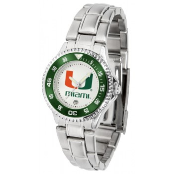 University Of Miami Hurricanes Ladies Watch - Competitor Steel Band