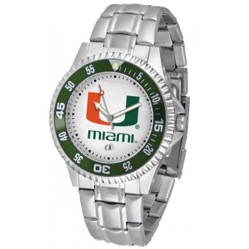 University Of Miami Hurricanes Mens Watch - Competitor Steel Band