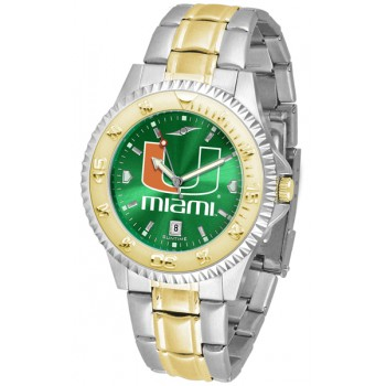 University Of Miami Hurricanes Mens Watch - Competitor Anochrome Two-Tone