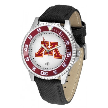 University Of Minnesota Gophers Mens Watch - Competitor Poly/Leather Band