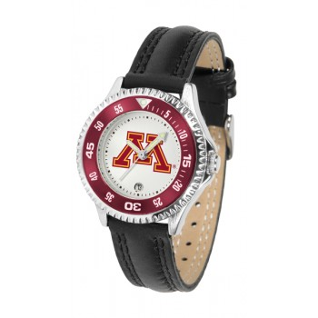 University Of Minnesota Gophers Ladies Watch - Competitor Poly/Leather Band