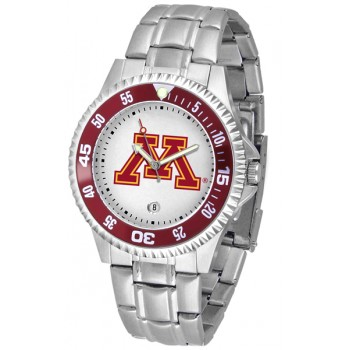 University Of Minnesota Gophers Mens Watch - Competitor Steel Band