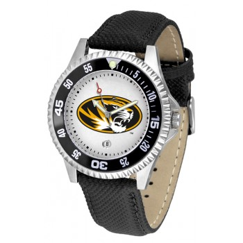 University Of Missouri Tigers Mens Watch - Competitor Poly/Leather Band