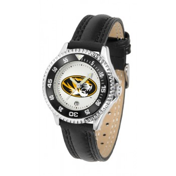 University Of Missouri Tigers Ladies Watch - Competitor Poly/Leather Band