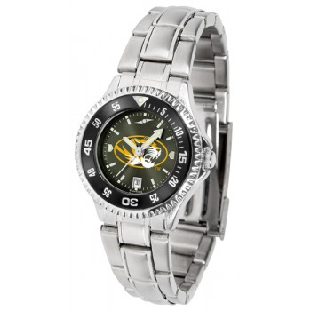 University Of Missouri Tigers Ladies Watch - Competitor Anochrome - Colored Bezel - Steel Band