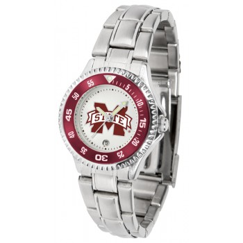 Mississippi State University Bulldogs Ladies Watch - Competitor Steel Band
