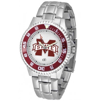 Mississippi State University Bulldogs Mens Watch - Competitor Steel Band