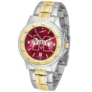 Mississippi State University Bulldogs Mens Watch - Competitor Anochrome Two-Tone