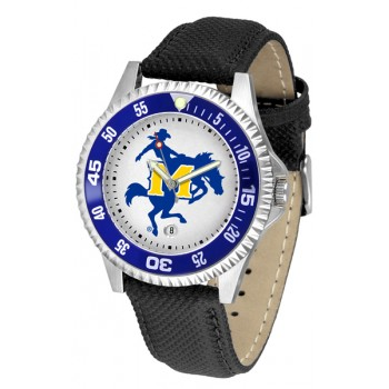 Mcneese State University Cowboys Mens Watch - Competitor Poly/Leather Band