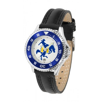 Mcneese State University Cowboys Ladies Watch - Competitor Poly/Leather Band