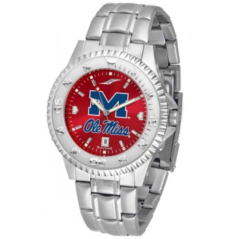 University Of Mississippi Ole Miss Rebels Mens Watch - Competitor Anochrome Steel Band