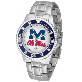 University Of Mississippi Ole Miss Rebels Mens Watch - Competitor Steel Band