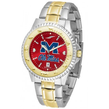 University Of Mississippi Ole Miss Rebels Mens Watch - Competitor Anochrome Two-Tone
