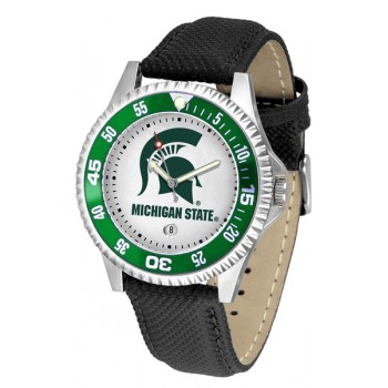 Michigan State University Spartans Mens Watch - Competitor Poly/Leather Band