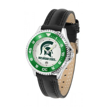 Michigan State University Spartans Ladies Watch - Competitor Poly/Leather Band