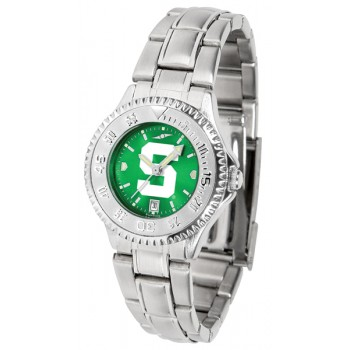 Michigan State University Spartans Ladies Watch - Competitor Anochrome Steel Band