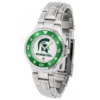 Michigan State University Spartans Ladies Watch - Competitor Steel Band