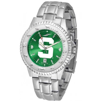 Michigan State University Spartans Mens Watch - Competitor Anochrome Steel Band