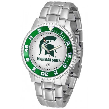 Michigan State University Spartans Mens Watch - Competitor Steel Band