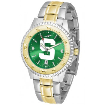Michigan State University Spartans Mens Watch - Competitor Anochrome Two-Tone