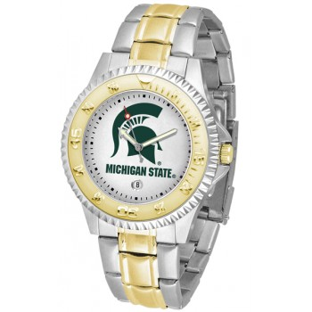 Michigan State University Spartans Mens Watch - Competitor Two-Tone