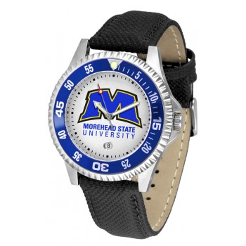 Morehead State University Eagles Mens Watch - Competitor Poly/Leather Band