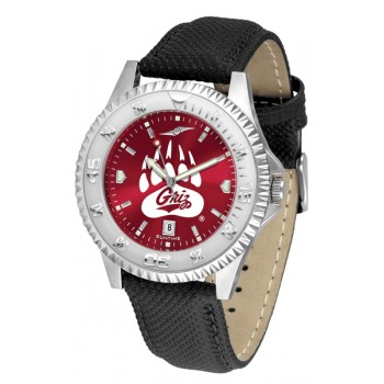 University Of Montana Grizzlies Mens Watch - Competitor Anochrome Poly/Leather Band