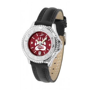 University Of Montana Grizzlies Ladies Watch - Competitor Anochrome Poly/Leather Band