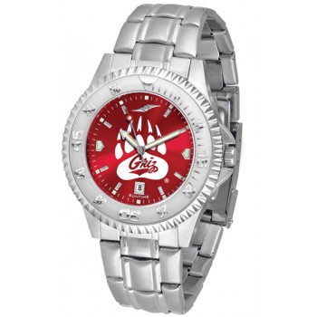 University Of Montana Grizzlies Mens Watch - Competitor Anochrome Steel Band