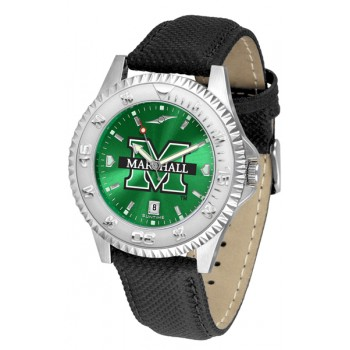 Marshall University The Herd Mens Watch - Competitor Anochrome Poly/Leather Band