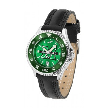 Marshall University The Herd Ladies Watch - Competitor Anochrome Colored Bezel Poly/Leather Band