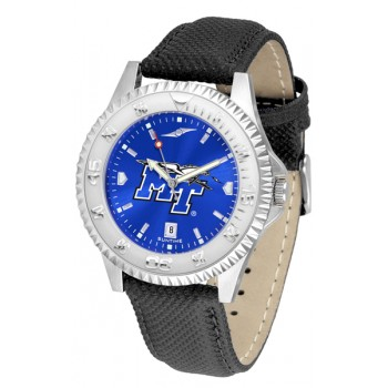 Middle Tennessee State University Blue Raiders Mens Watch - Competitor Anochrome Poly/Leather Band