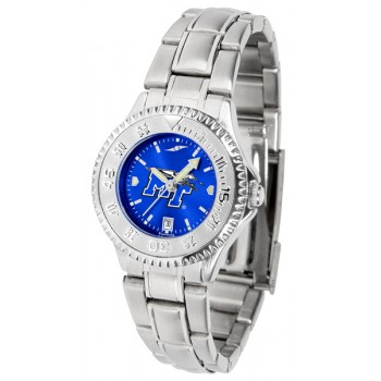 Middle Tennessee State University Blue Raiders Ladies Watch - Competitor Anochrome Steel Band