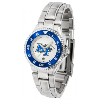 Middle Tennessee State University Blue Raiders Ladies Watch - Competitor Steel Band