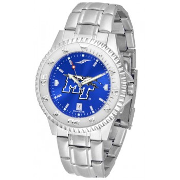 Middle Tennessee State University Blue Raiders Mens Watch - Competitor Anochrome Steel Band