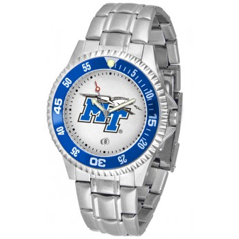 Middle Tennessee State University Blue Raiders Mens Watch - Competitor Steel Band