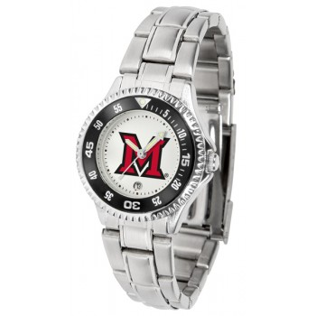 Miami University Of Ohio Redhawks Ladies Watch - Competitor Steel Band