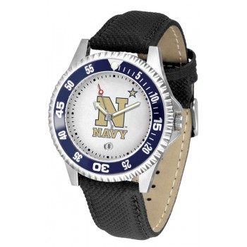 United States Naval Academy Midshipmen Mens Watch - Competitor Poly/Leather Band