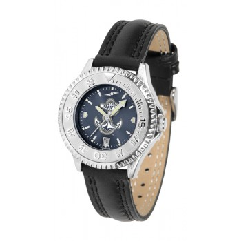 United States Naval Academy Midshipmen Ladies Watch - Competitor Anochrome Poly/Leather Band