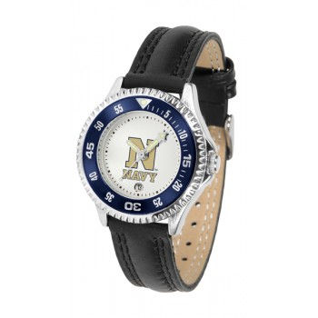 United States Naval Academy Midshipmen Ladies Watch - Competitor Poly/Leather Band