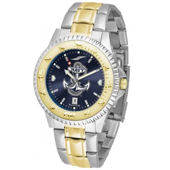 United States Naval Academy Midshipmen Mens Watch - Competitor Anochrome Two-Tone